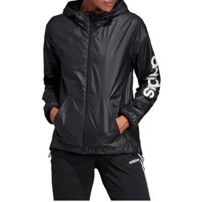 adidas Hooded Wind Resistant Lightweight Raincoat