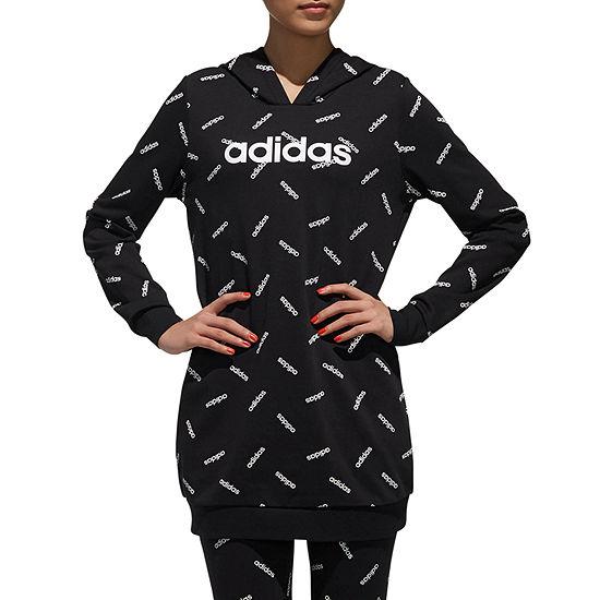 Adidas All Over Print Tunic Hoodie