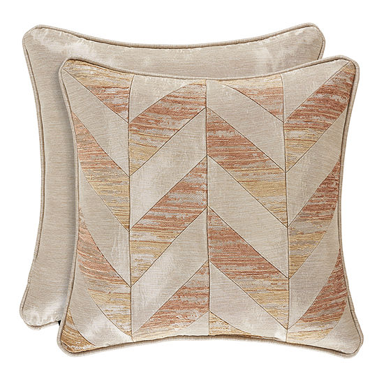 Queen Street Sussex Coral Square Throw Pillow