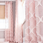 JCPenney Home Zuri Clipped Sheer Grommet-Top Single Curtain Panel