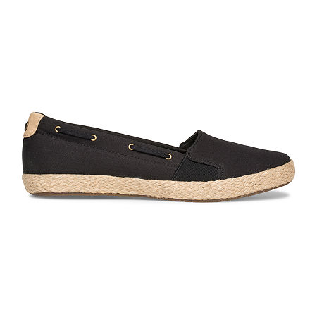 Grasshoppers Womens Skylar Slip-On Shoes, 7 1/2 Medium, Black