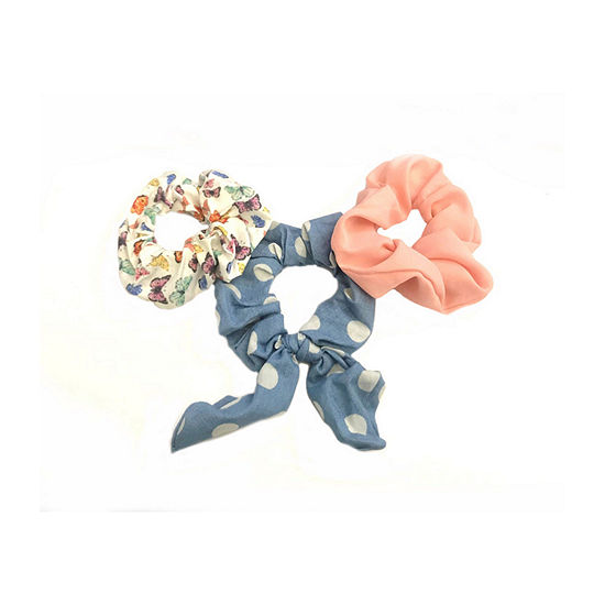 Arizona Butterfly Scrunchie 3-pc. Hair Ties