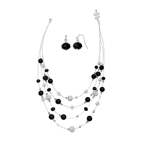 Mixit Black And White Beaded 2-pc. Jewelry Set