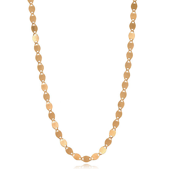 14K Rose Gold 18 Inch Solid Valentino Chain Necklace