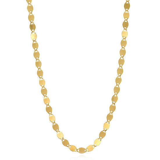 14K Gold 16 Inch Solid Valentino Chain Necklace