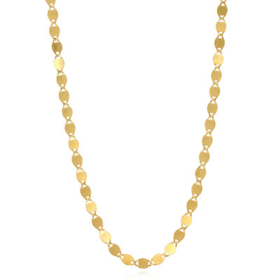 14K Gold 20 Inch Solid Valentino Chain Necklace