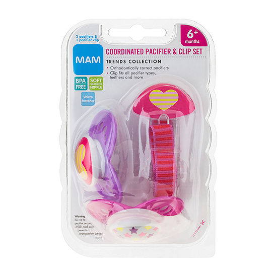 Mam Baby 3-pc. Pacifier & Clip Value Pack - Girl