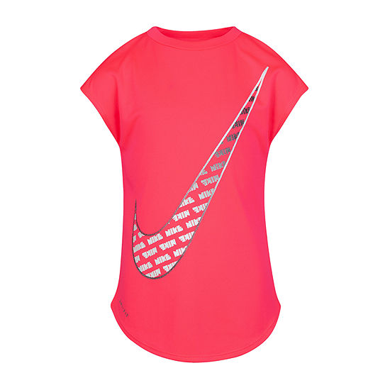 Nike Girls Crew Neck Short Sleeve Graphic T-Shirt Preschool