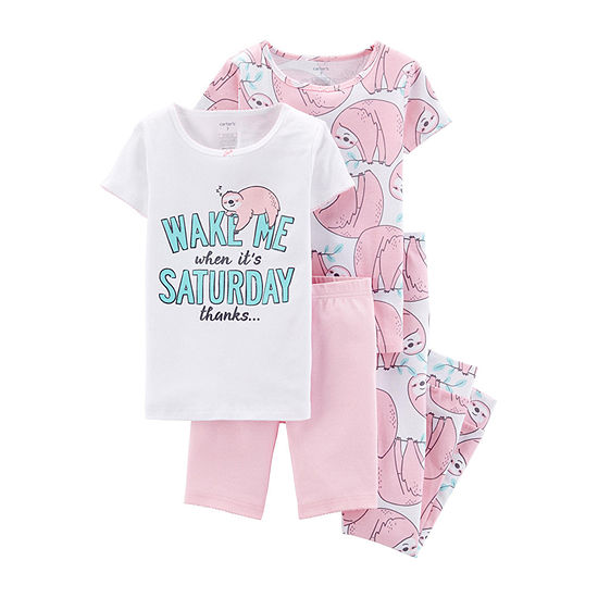 Carter's Little Kid / Big Kid Girls 4-pc. Pajama Set
