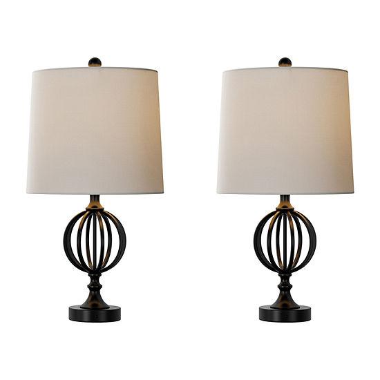 Lavish Home 2 Pc Lamp Set