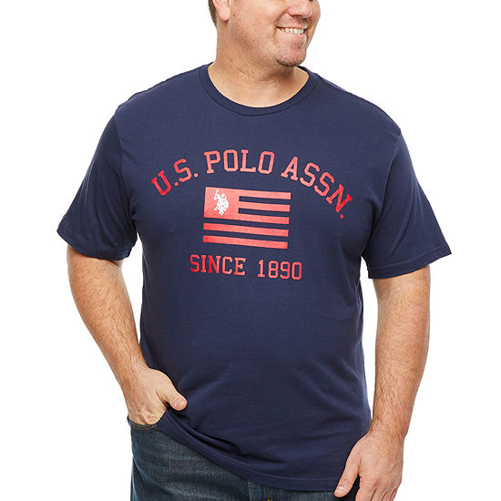 U.S. Polo Assn.-Big and Tall Mens Crew Neck Short Sleeve T-Shirt