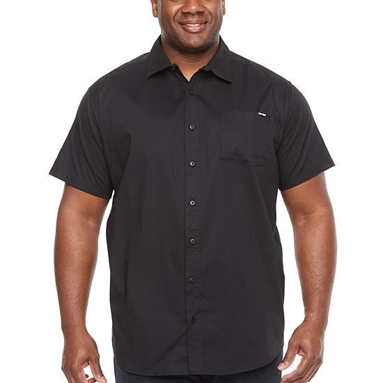 Zoo York Big and Tall Mens Short Sleeve Button-Front Shirt