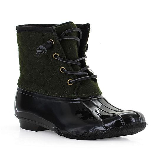 Seven 7 Womens Goose Rain Boots Slip Resistant Flat Heel