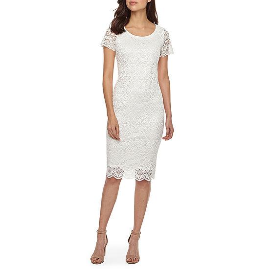 630c416d Ronni Nicole Short Sleeve Medallion Lace Sheath Dress - JCPenney