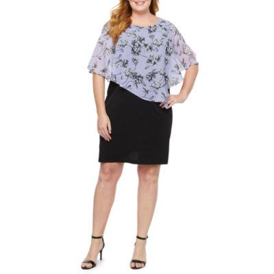 Alyx Popover Floral Sheath Dress-Plus