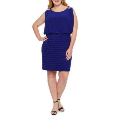 Scarlett Sleeveless Embellished Blouson Dress-Plus