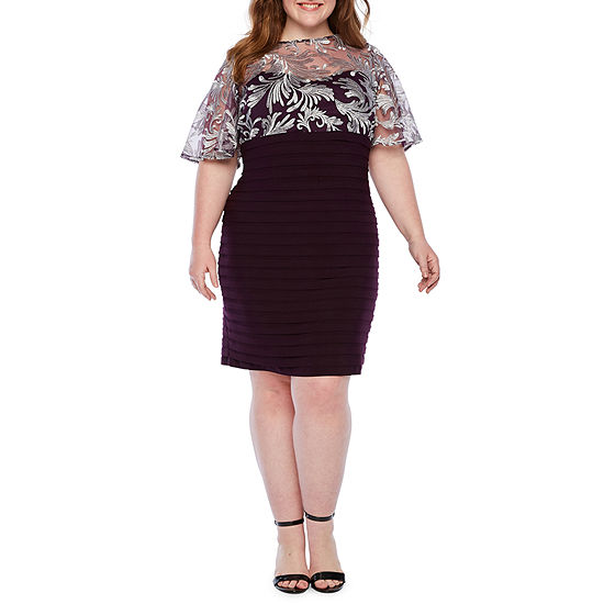 Scarlett Short Sleeve Sheath Dress - Plus