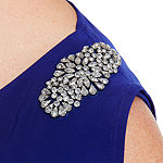 Scarlett Sleeveless Embellished Blouson Dress-Plus