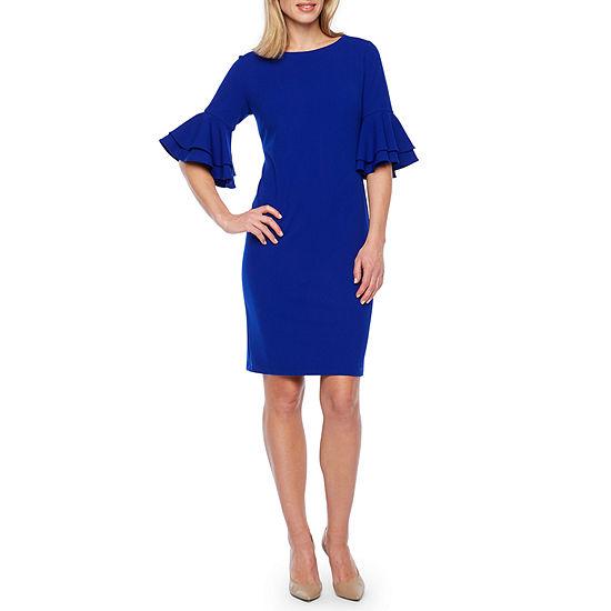 Liz Claiborne 3/4 Tiered Sleeve Sheath Dress