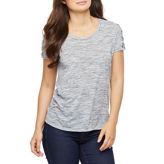 Bold Elements-Womens Round Neck Short Sleeve T-Shirt