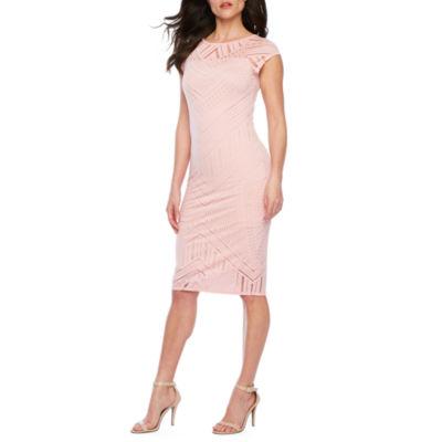 Bold Elements Short Sleeve Abstract Bodycon Dress