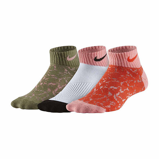 Nike Big Kid Girls 3 Pair Low Cut Socks