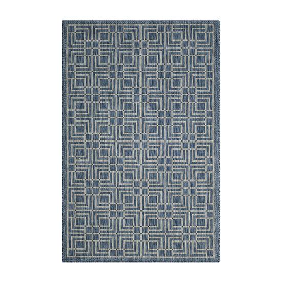 Safavieh Courtyard Collection Adelaide Geometric Indoor/Outdoor Area Rug