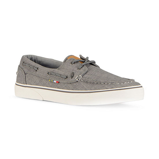Guy Harvey Mens Gulf Linen Boat Shoes