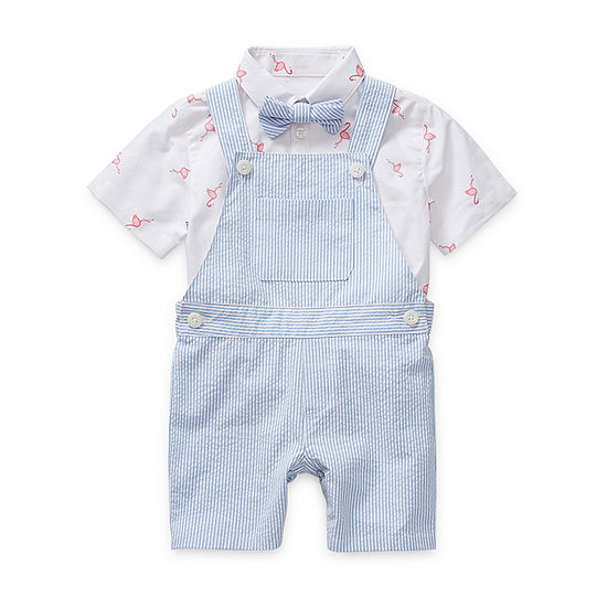 IZOD Baby Boys Shortalls