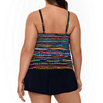 Trimshaper Slimming Control Swim Dress Plus