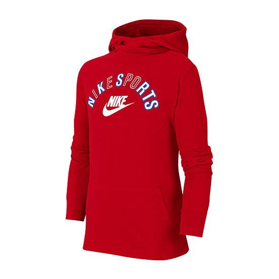 Nike Big Boys Fitted Sleeve Hoodie