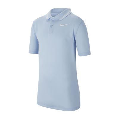 Nike Big Boys Short Sleeve Moisture Wicking Polo Shirt
