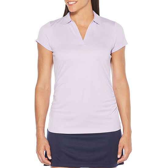 PGA TOUR Womens Short Sleeve Polo Shirt