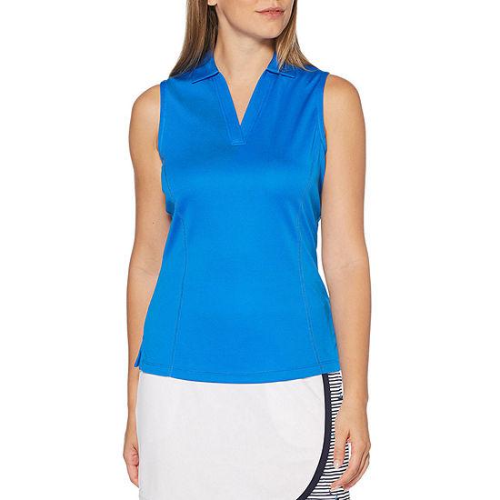 PGA TOUR Womens Sleeveless Polo Shirt