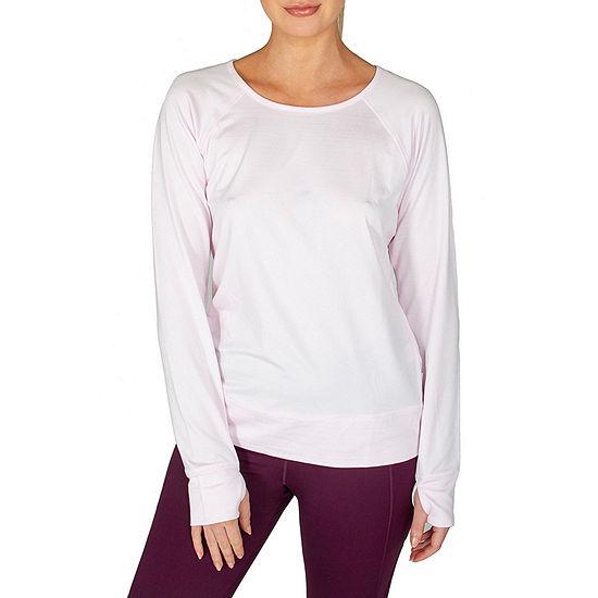 Jockey Womens Crew Neck Long Sleeve T-Shirt