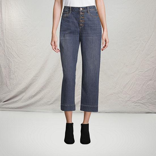 a.n.a High Waisted Wide Leg Cropped Jean