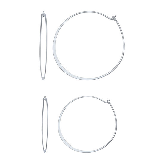 Silver Reflections 2 Pair Earring Set