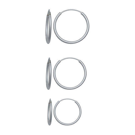 Silver Reflections 3 Pair Earring Set
