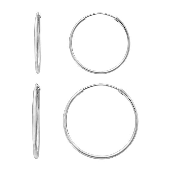 Silver Treasures 2 Pair Earring Set