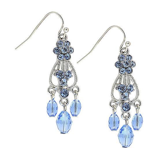 1928 Blue Drop Earrings