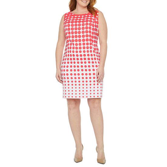 Alyx Sleeveless Dots Sheath Dress - Plus