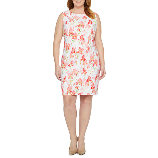 Alyx Sleeveless Floral Sheath Dress - Plus