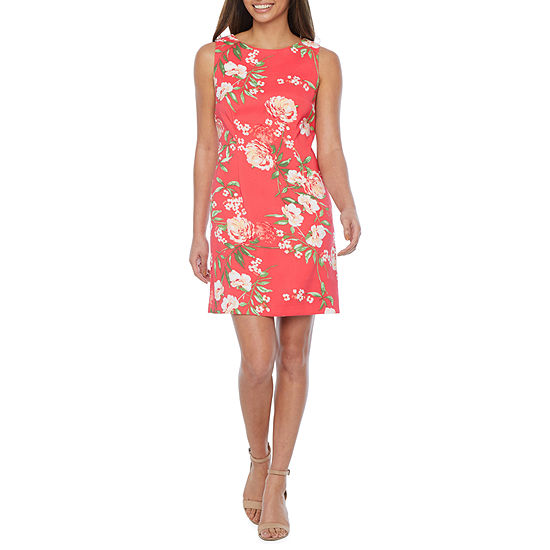 Alyx-Petite Sleeveless Floral Sheath Dress