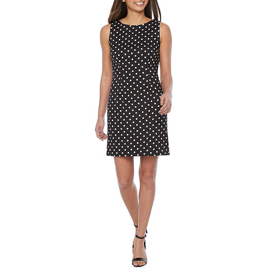 Alyx-Petite Sleeveless Polka Dot Sheath Dress