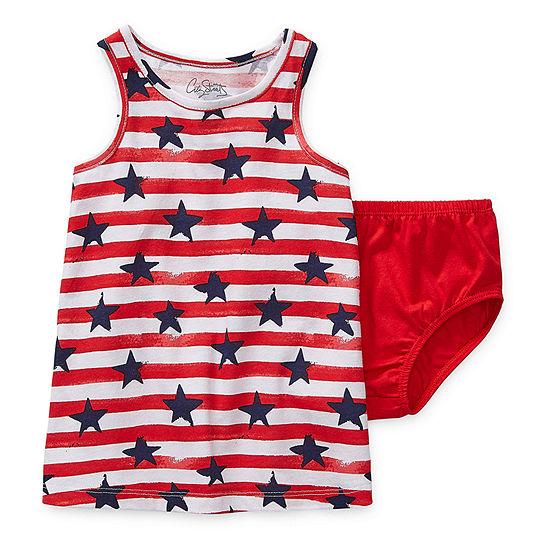 City Streets Baby Girls Sleeveless Striped T-Shirt Dress