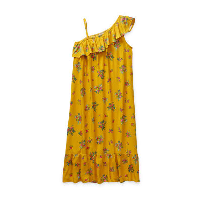 Peyton & Parker Little & Big Girls One Shoulder Sleeve A-Line Dress