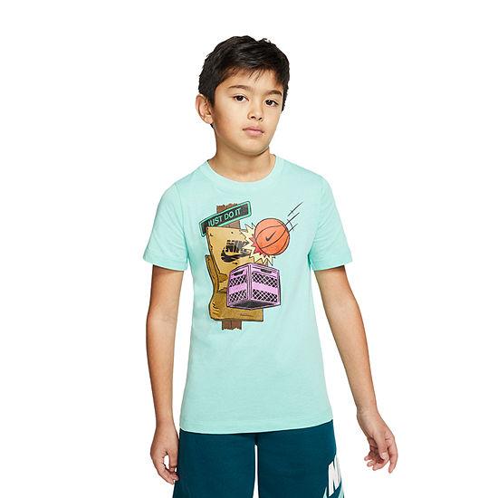 Nike - Big Kid Boys Crew Neck Short Sleeve Graphic T-Shirt