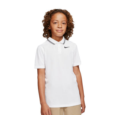 Nike Big Boys Short Sleeve Moisture Wicking Polo Shirt