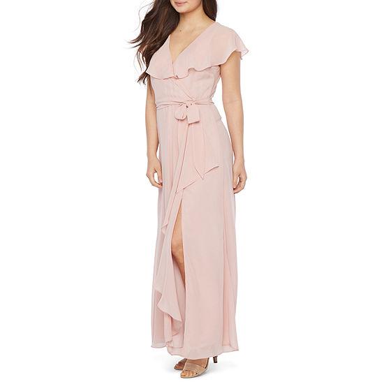 Premier Amour Short Sleeve Maxi Dress