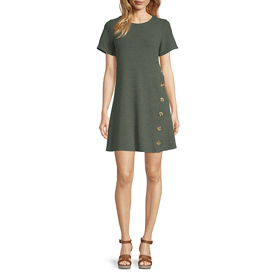 a.n.a Short Sleeve A-Line Dress